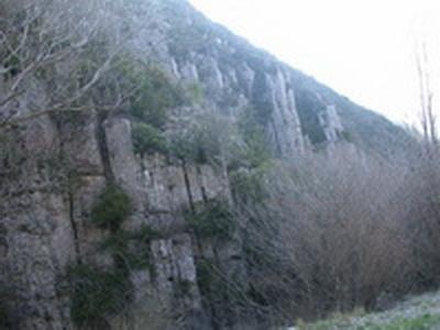 Calcaires redressés à Léoux
