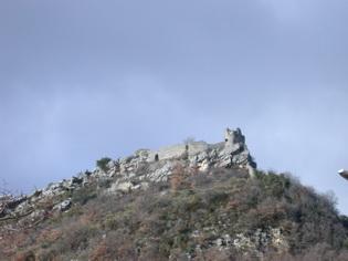 vue sur le château de Cornillon